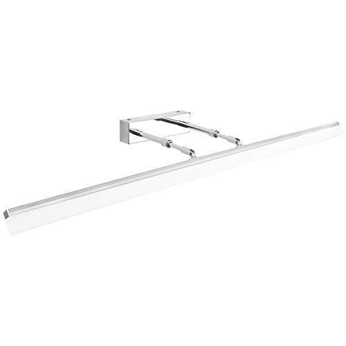 Klighten 24W LED Lámpara de espejo Armario Baño Lámpara IP44 5500K Anti niebla Niebla Lámpara de gabinete de espejo de acero inoxidable Lámpara Espejo 180° Giratorio