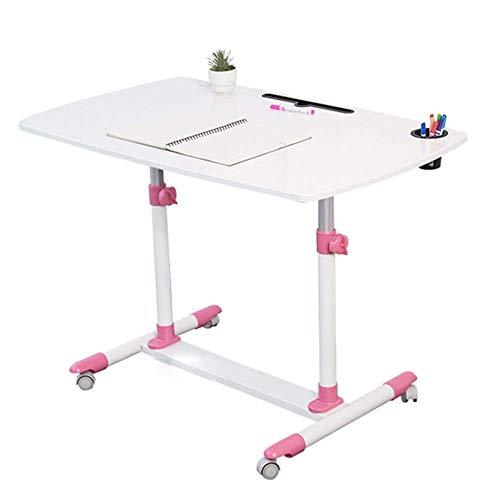MYPNB Tabla Lado del Escritorio del Ordenador, Moda Ascensor giratoria cabecera móvil portátil Study Desk cabecera del Escritorio Escritorio de 3 Colores 38 * 24 * (Color : Pink)