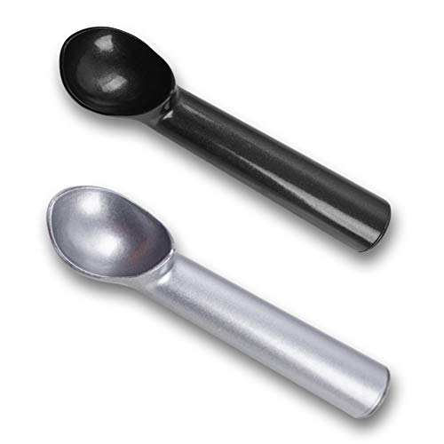 HANSGO Ice Cream Scoop 2PCS Nonstick AntiFreeze Ice Cream Scooper One Piece Aluminum Design Dishwasher Safe