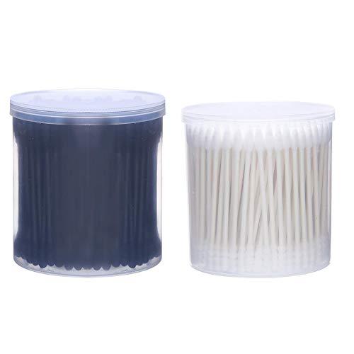 Beauté Cotton Sticks Creative Double tête Design Forme en spirale Conseil Forme cosmétique Papier bâton Beauté Coton Beauté Noir Accessoire Blanc