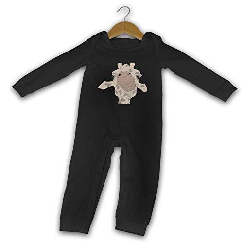 WushXiao Giraffe Long Comfort Baby Crawler schwarz Gr. 2 Jahre, Schwarz