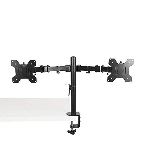 Soporte de brazo de monitor de pantalla dual soporte de escritorio abrazadera de 360 rotación de escritorio portátil soporte para PC Monitor TV