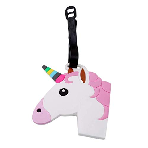 Unicorn Luggage Tag Rubber Labels Travel Holiday Suitcase Girls Childrens (Design 2) Gifts & Goodies UK Seller