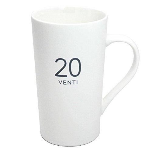 Momugs Number Pattern Simple Pure Large Milk Mug, Tall White Ceramic Coffee Cup, 20 oz