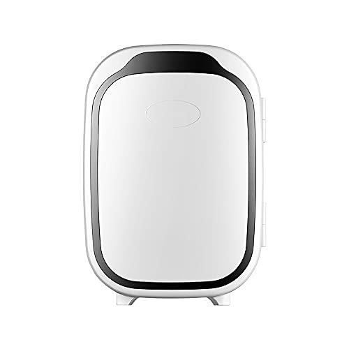 QPMY Mini Refrigerador, Refrigerador para Automóvil Pequeño De 6L, Conservación De Frío Y Calor, Refrigerador De Doble Uso para Automóvil Y Hogar, Refrigerador De Maquillaje Multifuncional,Negro