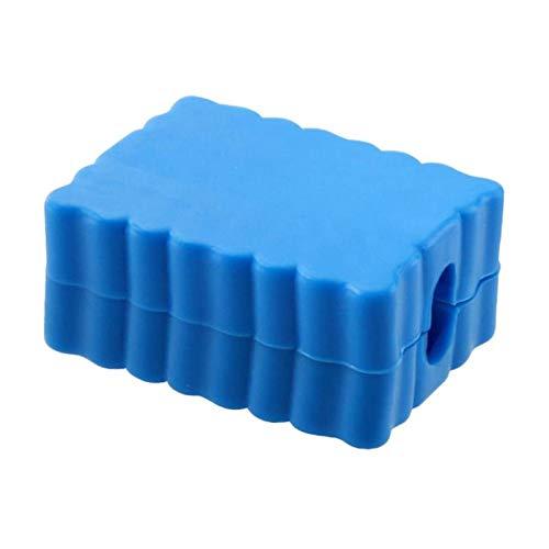 Fenteer Conjunto de 2 32 agujeros de plástico 6,35mm Hex talón tornillo Bits titular de alta calidad Color azul