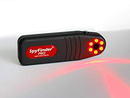 SPYFINDER PRO Hidden Spy Camera Detector - Portable Pocket Sized Camera Finder Locates Hidden Camera in Your House, Office, AirBnB Rentals, Hotel...