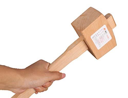 Holzbearbeitung Holzbuche Holzhammer Hammer Wood Hammer Werkzeug DIY Nagelhammer für Tischlerarbeiten