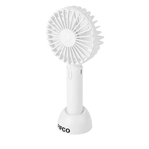 Pifco Mini Handheld Ventilator, USB-oplader, 3 Snelheidsinstellingen Handheld ventilator Kleur: wit