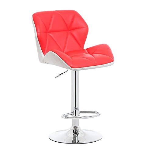 JPL Bar,Cafe,Restaurant Chair,Comfortable Minimalist Breakfast Chair Bar Stool, Rotating Bar Stool, Backrest Pu Chrome Height Adjustable 55-75Cm, Kitchen Counter Bar