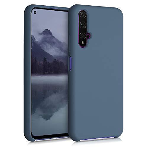 kwmobile Funda Compatible con Huawei Nova 5T - Carcasa de TPU para móvil - Cover Trasero en Gris Pizarra