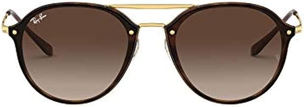 Ray-Ban unisex adult Rb4292n Blaze Double Bridge Sunglasses, Light Havana/Brown Gradient, 62 mm US