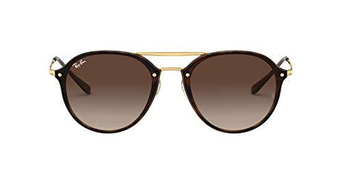 Ray-Ban Unisex-Erwachsene Sonnenbrille Blaze Double Bridge, Light Havana/Browngradient, 62