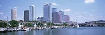 Posterazzi Skyline & Garrison Channel Marina Tampa FL USA Poster Print  18 x 6