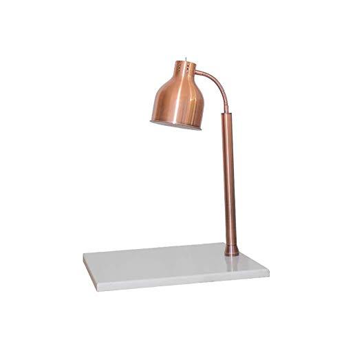 PEDFI Voedsel verwarming Warme lamp antieke metalen tafellamp food verwarmingslamp-eettafel, salontafel inclusief witte marmeren sokkel