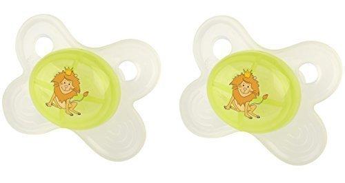 2 x OKT Kids Beruhigungsschnuller 0+ Schnuller Hippo grün ab 0 Monate Größe 1