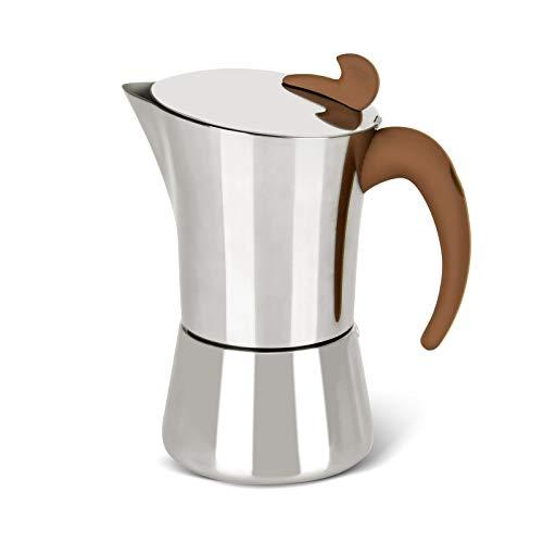 FISSMAN Stovetop Espresso Maker 360 ml, Stainless Steel Latte Mocha Coffee Maker Pot Tool, Italian espresso maker 5-6 Cups