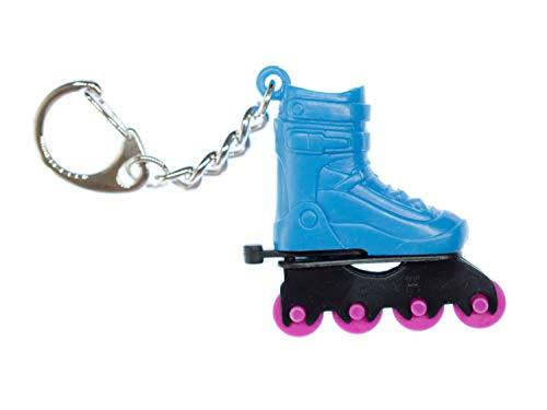 Miniblings Rollschuh Schlüsselanhänger Inline-Skates Rollschuhe Sport Skate blau