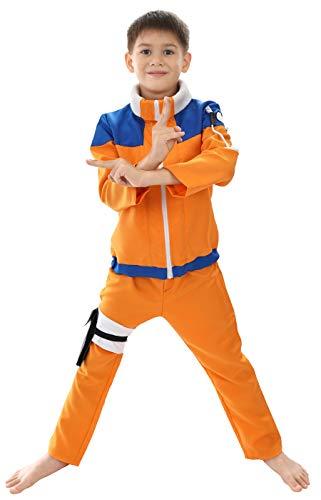 CoolChange Disfraz Genin de Naruto Uzumaki para niños, Talla: 140