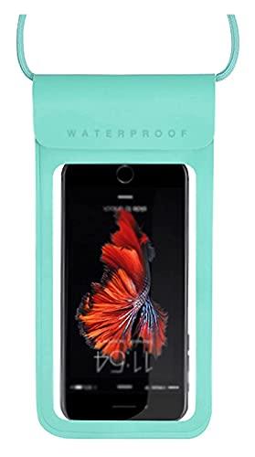 HSFS bolsa seca impermeable La bolsa de teléfono a prueba de agua puede tocar la pantalla de tacto Perspectiva de alta definición adecuada para aguas termales Natación de la temporada de lluvias que s