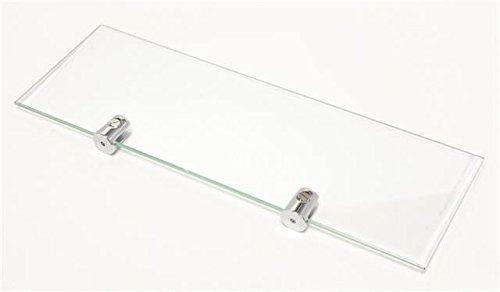 2 X 3 étagères en verre trempé Fixations incluses-Largeur: 30 cm Hauteur 10 cm