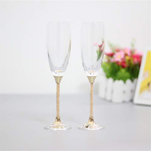 Champagne glasses set met 2 glazen voor bruidegom en bruidegom, 170 ml, 24,5 cm, glas