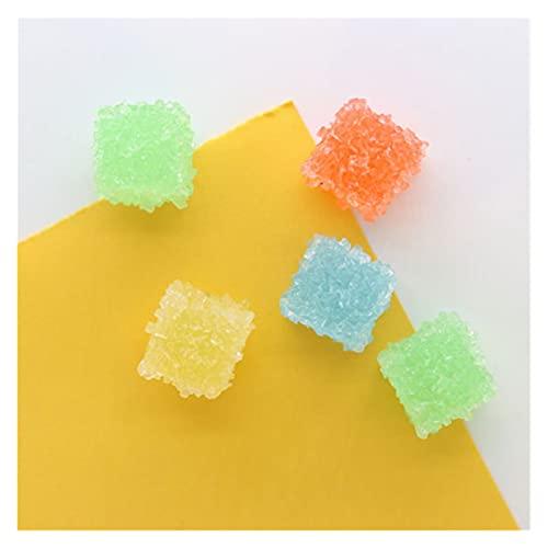 YSQSPWS imanes de Nevera Imán de Nevera Suave Dulce Dulce Caramelo Mini Modelo imán Fuerte para niños como decoración de Pizarra de Colores Etiqueta magnética (Color : 5pcs Cube)
