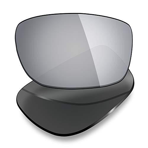 Mryok Lentes de repuesto para Arnette Slickster AN4185 - Opciones, Polarizado - titanio plateado., Talla única