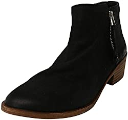 professional ALDO Veradia Black Ankle Leather Boots for Women – 7.5 m
