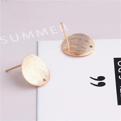xuyang 10 piezas de forma simple de círculos con un agujero para mujer, para hacer joyas, accesorios de joyería Oorbellen (color dorado)