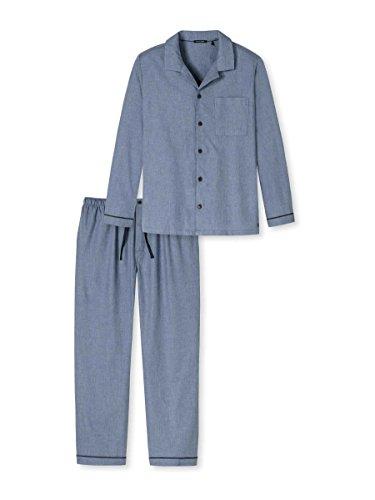 Schiesser Bristol Pyjama durchgeknöpft Herren