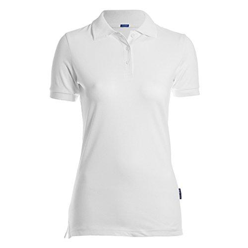 HRM Damen Luxury Stretch W Poloshirt, Weiß (White 02-White), Small