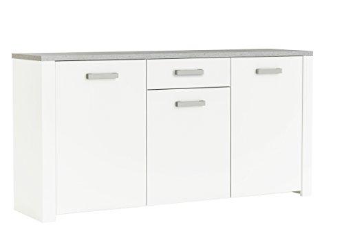 demeyere Floride Anrichte, Spanplatte, Perle Weiß/Woodcorn, 175.5 x 42.3 x 82.1 cm