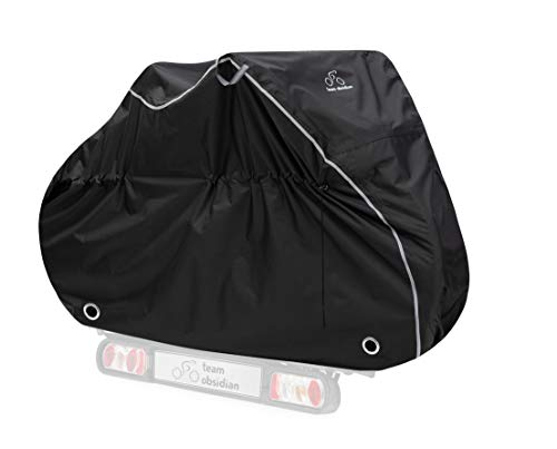 TeamObsidian Transportation Bike Cover XL - Waterproof Travel Bicycle Cover for 2 Bikes - Heavy Duty Ripstop Material - Offers Constant Protection for All Bicycles On Or Off The Rack
