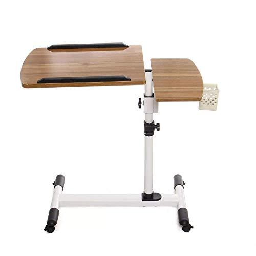 YO-TOKU Opvouwbaar Laptop bureau in hoogte verstelbare Laptop Tabel 360 graden Hoek Rolling Notebook Bureau staan over slaapbank for Home Office (Kleur: Wood, Size: 40x68x52cm) Vouwtafels