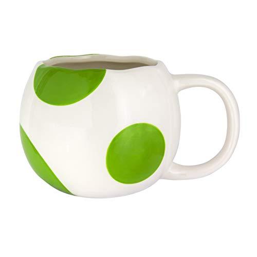 Paladone Products Super Mario 3D Mug Shaped Yoshi Egg Kelche Tassen, PP4911NN, Mehrfarbig