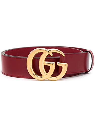 Luxury Fashion | Gucci Heren 4068310YA0G6420 Bordeaux Leer Riemen | Lente-zomer 20
