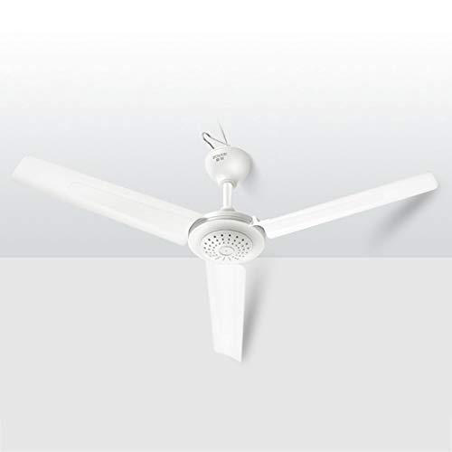 Deckenventilator, High Wind Mute Energiesparende Deckenventilator, for Wohnzimmer Gastronomie Schule Schlafzimmer 105cm Durchmesser Weiß (Farbe : C)