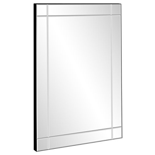 Best Choice Products 36x24in Rectangular Bedroom Bathroom Entryway Decorative Frameless Wall Mirror