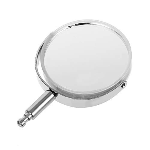 VILLCASE Microscopio reflector espejo lente de vidrio óptico lente reflectante instrumento óptico accesorios para la enseñanza de la ciencia de la física y la enseñanza de la fotografía