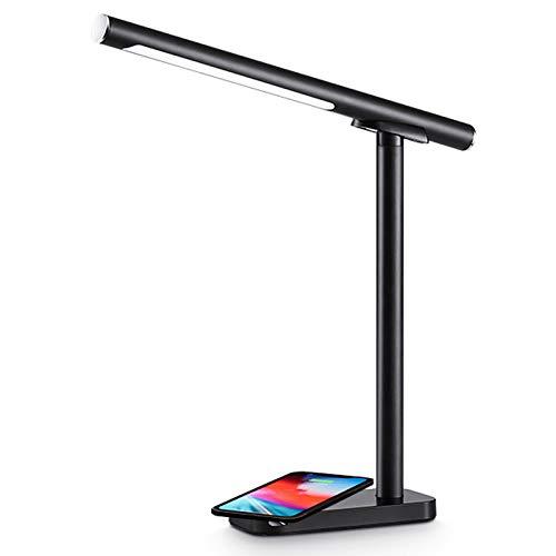 MLMQ Lámpara de Mesa Magnético Regulable, Lámpara de Escritorio Infantil LED con Panel Táctil Temperatura de Color 3, Luz de Lectura Moderna para Dormitorio Trabajo, 7W,Negro
