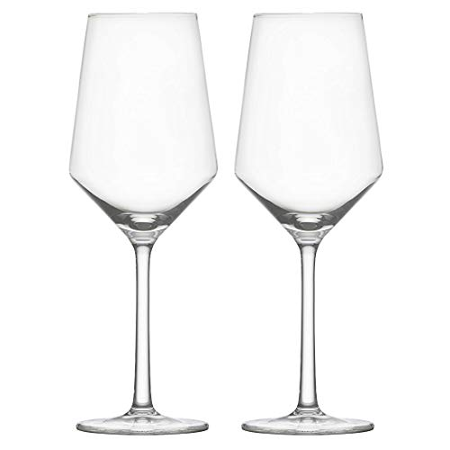 White Wine Glasses Nines Sun 15-Oz Hand Blown Crystal Clear Glass Stemware Red Wine Glass Set Of 2 for Wine Tasting Party Drinking Unique Gift