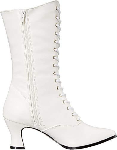 Pleaser Victorian-120, Damen Stiefel, Weiß (White), 38 EU
