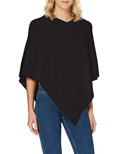 Sisley Women's Poncho Sweater, Nero 100, OS