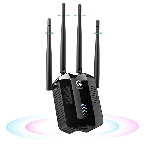 Repetidor WiFi 6 Amplificador señal Wireless,Extensor Wi-Fi 6 Doble Banda 1800 Mbps,Amplificador WiFi Puerto Gigabit,WPS,Modo Ap/Repetidor/Enrutador,Compatible con Todas Las Cajas de Internet