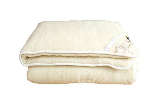 Alpenwolle Unterbett, Matratzenauflage, Bettauflage, Schonbezug 100% Wolle (90x200)