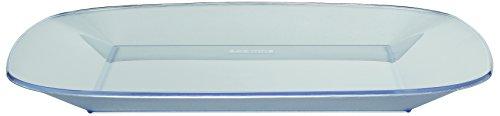Bodum New-York Set 4 Flache Picknickteller, Kunststoff, Transparent, 30 cm, 4-Einheiten