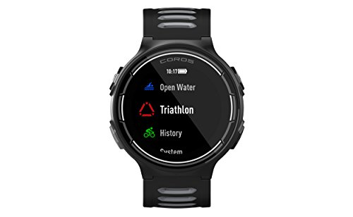Coros PACE GPS Sports Watch with Wrist-Based Heart Rate Monitoring | Includes Running, Cycling, Swimming and Triathlon Features. Barometric Altimeter, Strava Compatible, One Size, Black