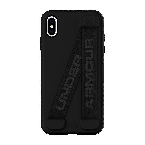 Under Armour Phone Case | for Apple iPhone Xs Max | Under Armour UA Protect Handle-It Case with Rugged Design and Drop Protection - Black/Black/Stealth