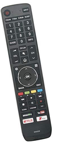 ALLIMITY T210141 EN3G39 Reemplace el Control Remoto por Hisense UHD TV with Netflix F-Play Youtube H43A6250UK H55A6200UK H65A6250UK H49N5700UK H43A6200UK H50A6250UK H65A6200UK H50N5300UK H50A6200UK